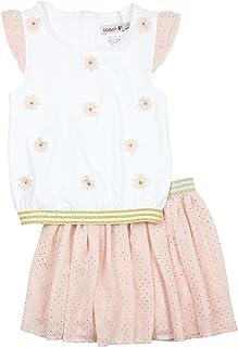 Boboli Girl's Embellished Blouse and Polka Dot Skirt Set, Sizes 4-16