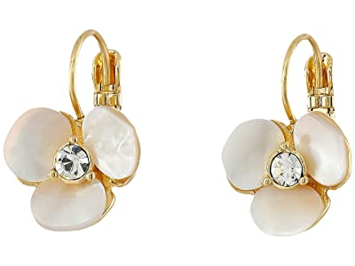 Kate Spade New York Disco Pansy Leverbacks (Cream/Clear) Earring