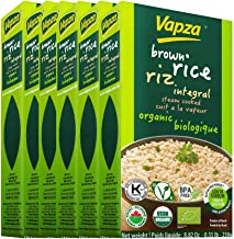 Organic Brown Rice - Case of 6 x 250 Grams - Ready to Eat - Steam Cooked and Vacuum Packed - Shelf Stable - No Refrigerati...