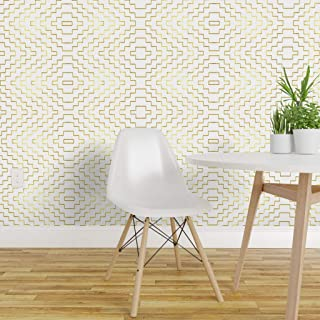 Spoonflower Peel and Stick Removable Wallpaper, Aztec Geometric Tribal Nursery Chevron Arrows Modern Ombre Print, Self-Adhesive Wallpaper 24in x 144in Roll