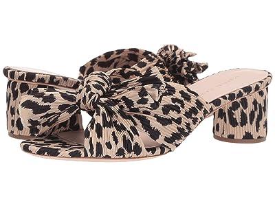 Loeffler Randall Emilia Pleated Knot Mule (Leopard Pleated Fabric) Women