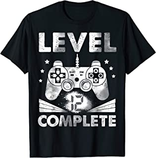 Video Game Kids Youth adults 12th Birthday Level 12 Complete T-Shirt