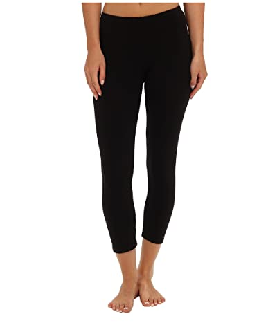 Splendid Modal Crop Leggings (Black) Women
