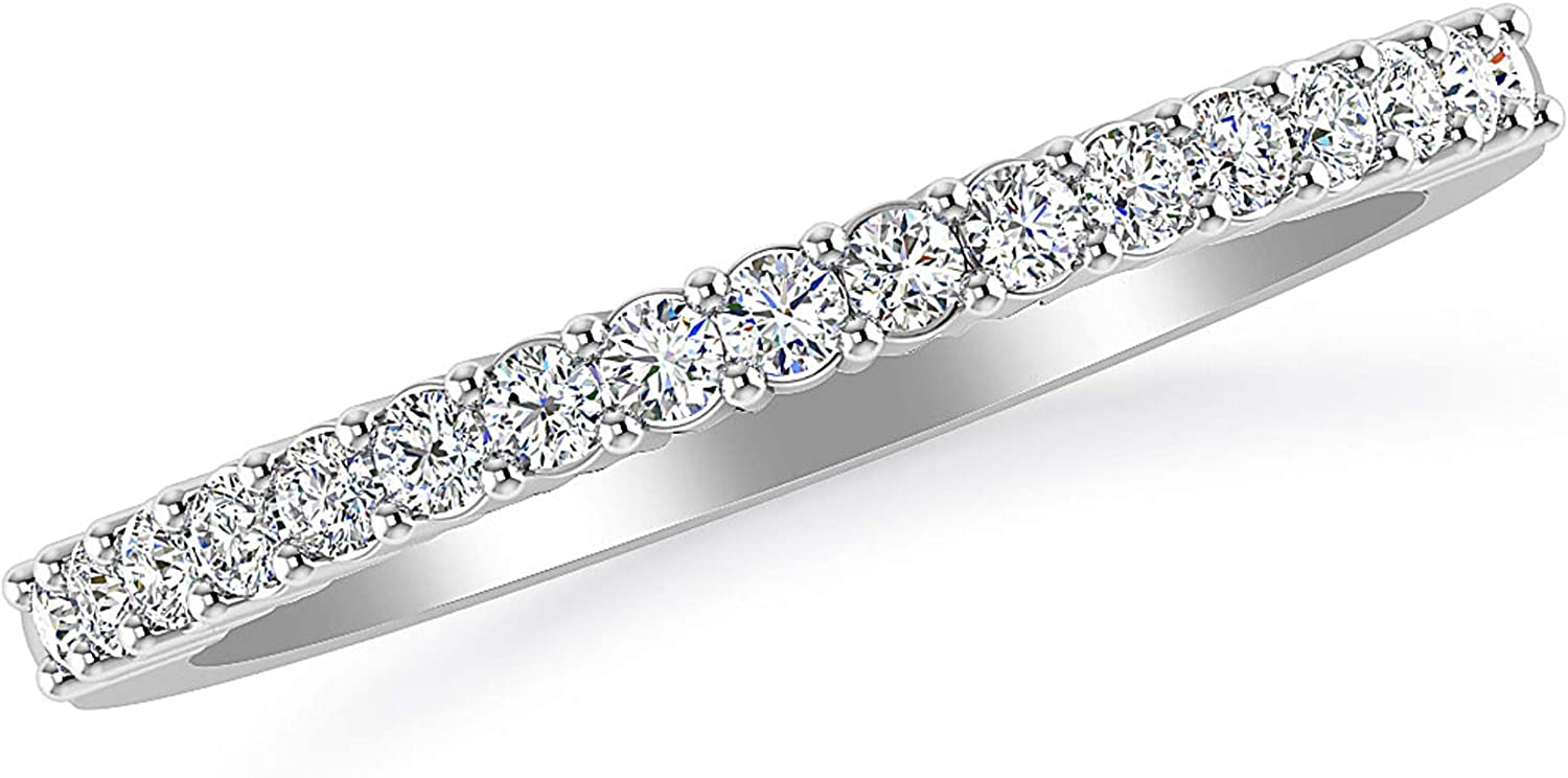 Inspereza 1/3 CTTW Round-Cut Diamond Ladies Anniversary Wedding Band Ring in 14kt Gold (H-I Color, I2 Clarity)