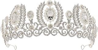 YNYA Tiare Bridal Tiara Baroque Strass Pearl Accessori per Capelli Wedding Crown Wedding Dress Wedding Jewelry Accessori A...