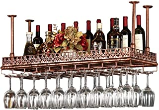 Retro Wall Wine Racks Metal Iron Storage Shelf in Bar LOFT Ceiling Wall Mounted Hanging Wine Champagne Glass Goblets Stemw...