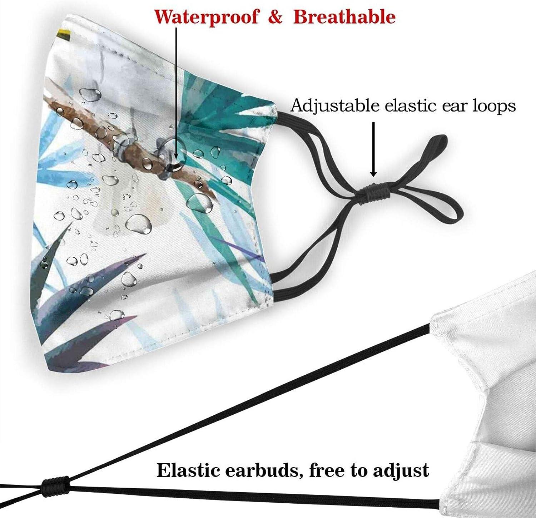 Cloth Face Mask Bandana With 2pcs Filters,Balaclava Adjustable Earloop Washable Reusable for unisex