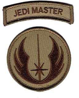Star Wars Jedi Order Logo Jedi Master Tab Bundle 2pcs Morale Hook Patch P406