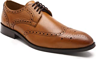 HATS OFF ACCESSORIES Genuine Leather Tan Derby Brogues Shoes