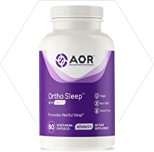 AOR, Ortho Sleep, Promotes Relaxation and Improved Sleep Quality, Natural Sleep Aid Supplement with GABA, Melatonin, L-Theanine, Vegan, 30 Servings (60 Capsules)