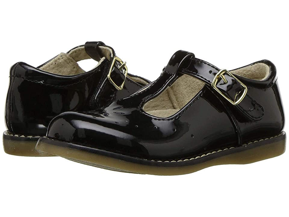 FootMates Sherry 2 (Toddler/Little Kid) (Black Patent) Girls Shoes