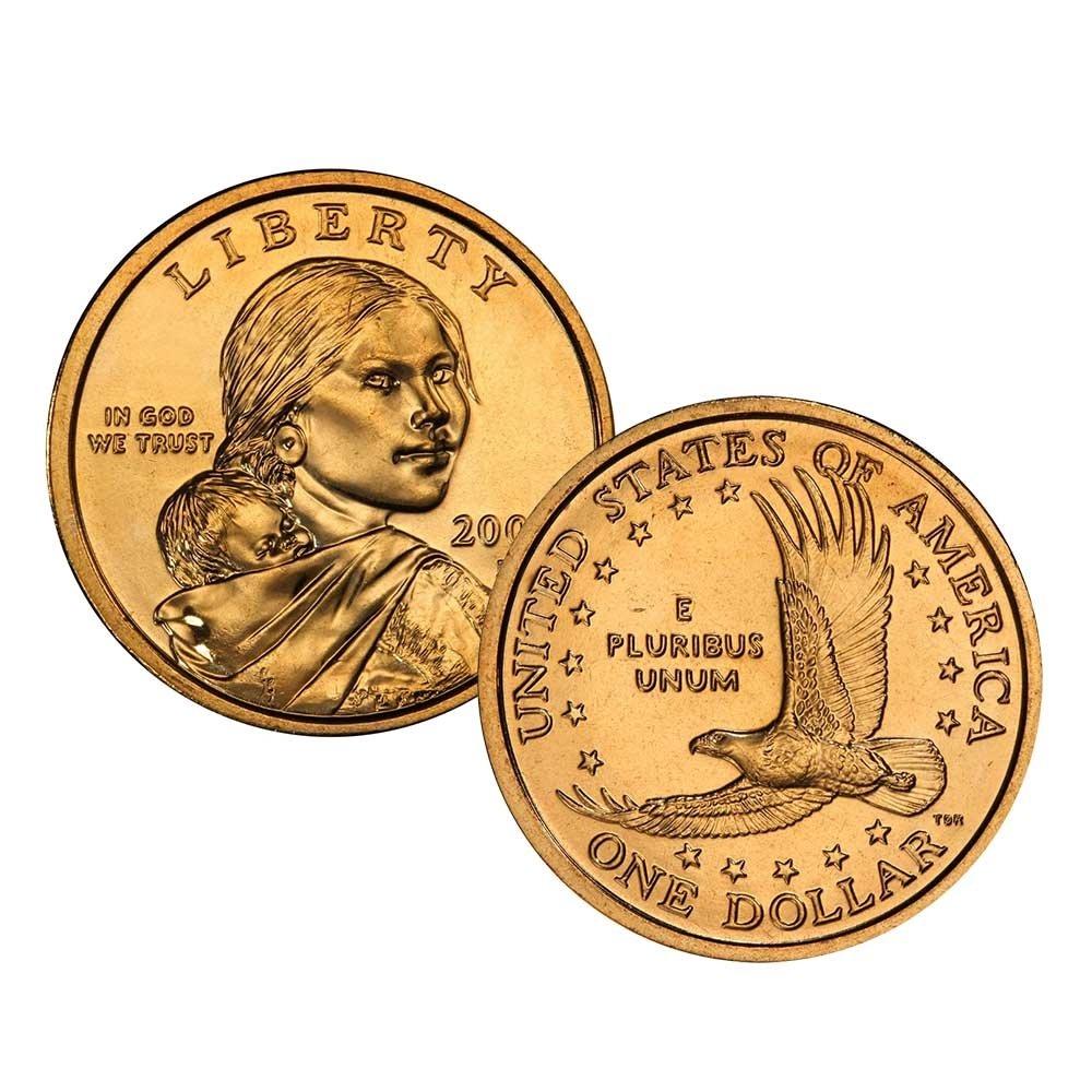 2001 P D Native Max Max 57% OFF 78% OFF American Sacagawea Dollar 2 Set U Coin Golden