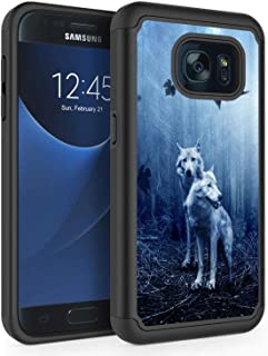 S7 Case, Galaxy S7 Case, Rossy Heavy Duty Hybrid TPU Plastic Dual Layer Armor Defender Protection Case Cover for Samsung Galaxy S7 (5.1