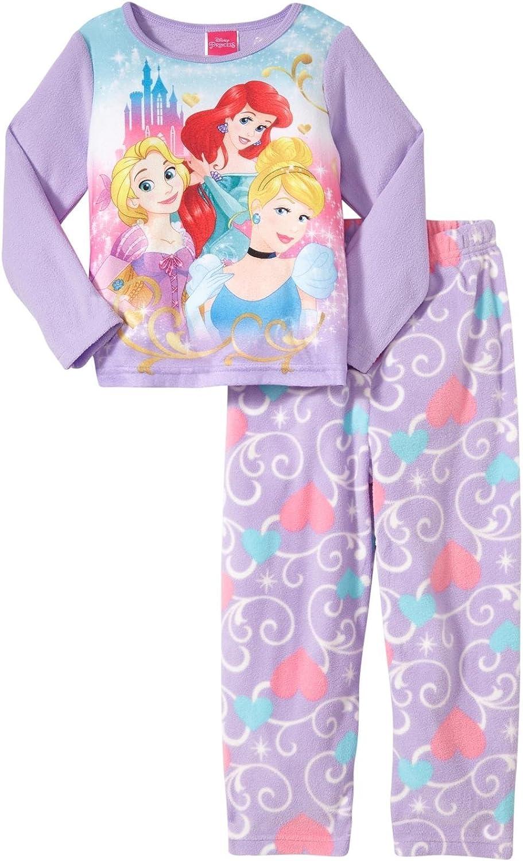 Disney Little Girls' Princess 2-Piece PJ Set (Toddler) - Purple - 2T