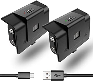 2 Pack Controller Battery Pack Rechargeable for Xbox One/Xbox Series X|S with 4 Battery Cover Xbox Play and Charge Kit wit...
