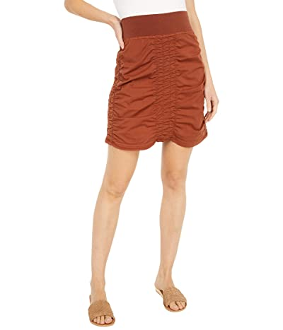 XCVI Wearables Solid Trace Skirt (Nutmeg Pigment) Women