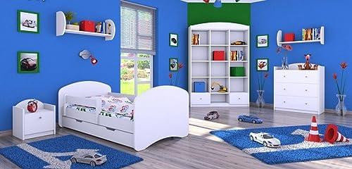 6 - teiliges Set Jugendzimmer Kinderm l Zimmerm l  Weiß  mit Kinderbett