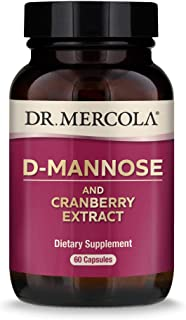 Dr. Mercola, D-Mannose and Cranberry Extract, for Women and Men, Promotes Urinary and Bladder Health, 30 Servings (60 Caps...