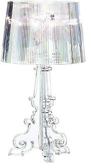 Yozeka Lampe de Chevet Design bureau LED Bourgie de 20 pouces, lampe de chevet chambre table en cristal clair acrylique av...