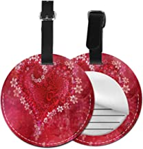 Amazing Valentine's Day Theme Luggage Tag Suitcase Backpacks ID Tag with Adjustable Strap 2 Pack