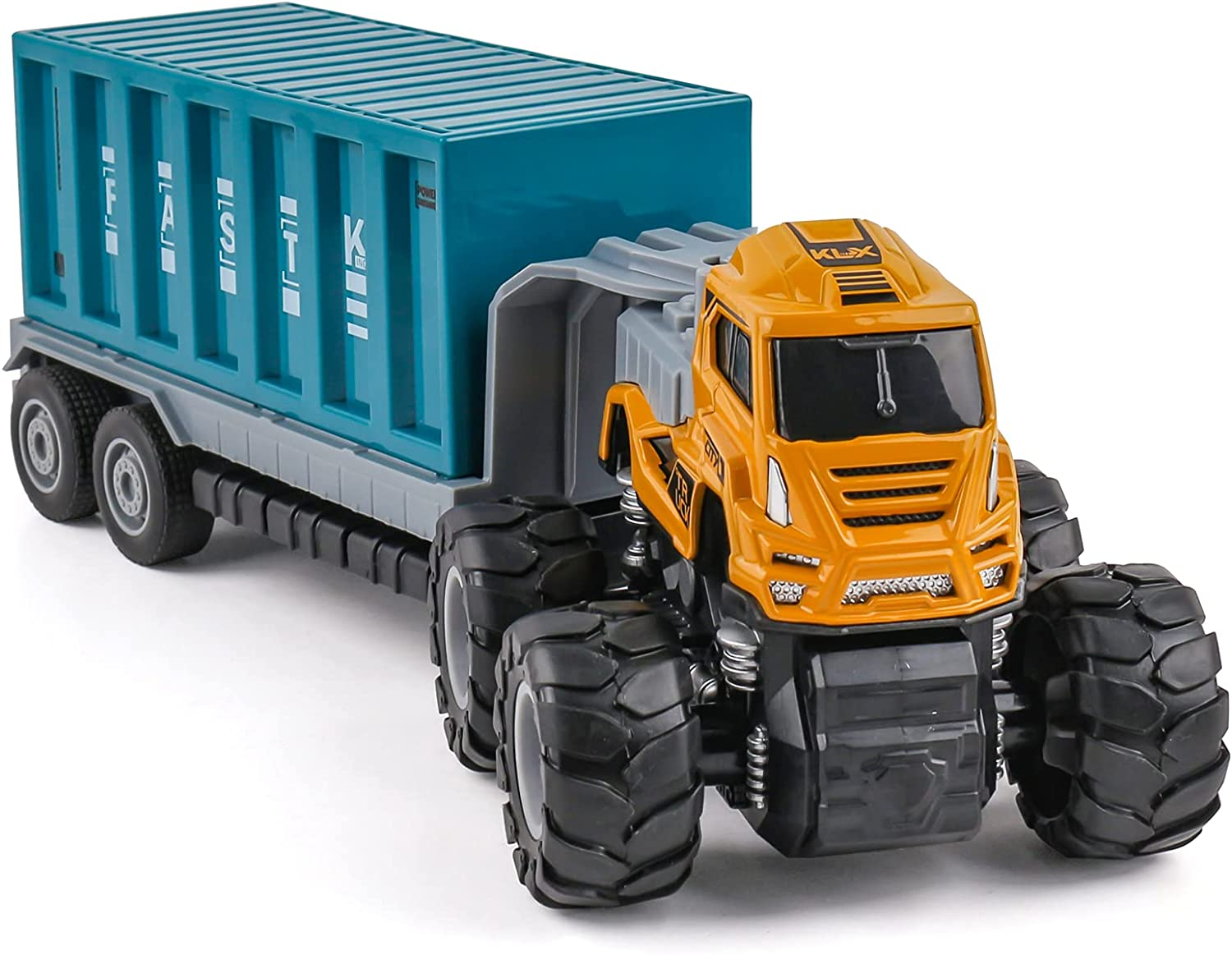National uniform Popular brand in the world free shipping XQW Container Truck Carrier Car Transport Toy