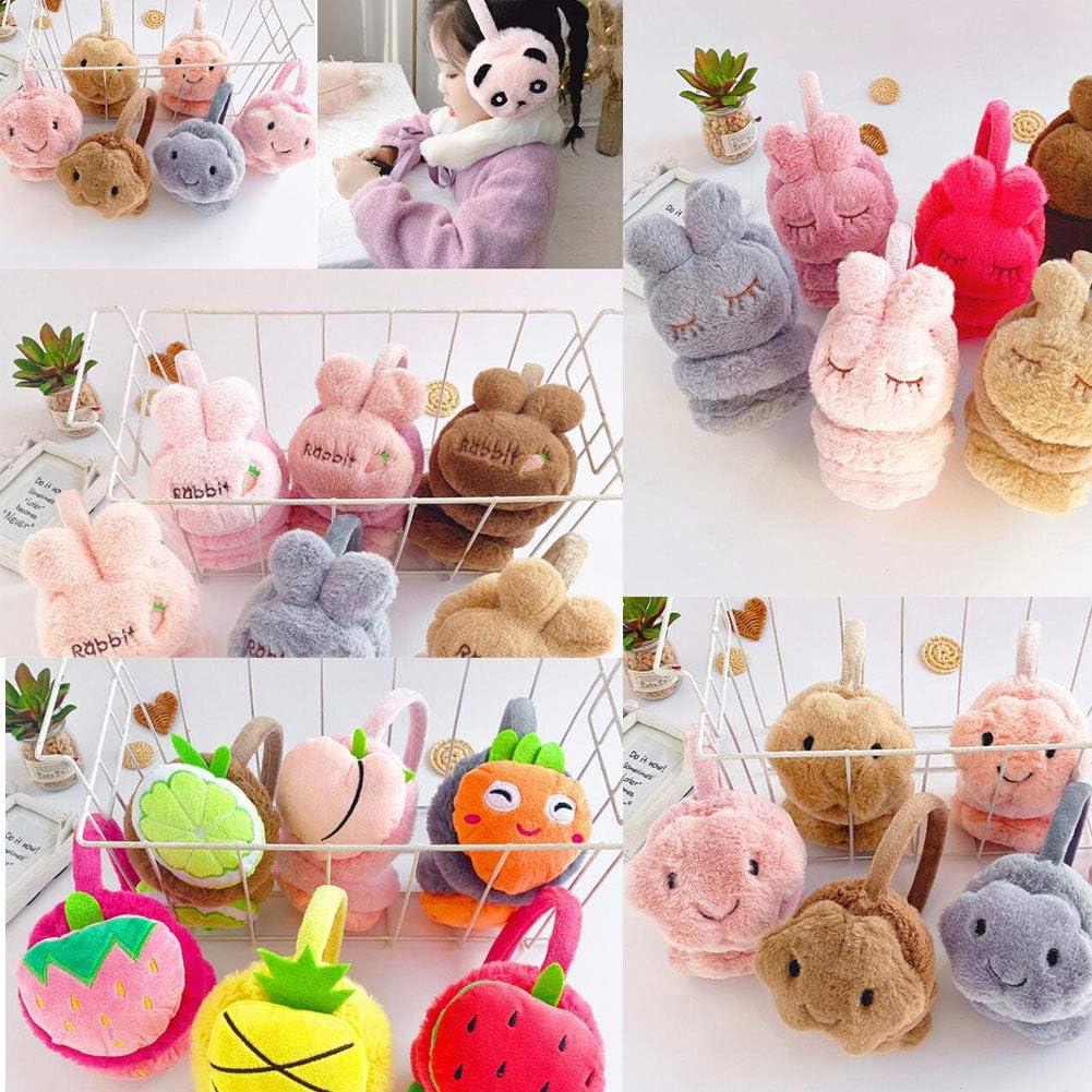 Lovely Kids Warm Winter Earmuffs Winter Ear Warmers Covers Soft Earmuffs for Cold Weather Cute Rabbit, Pink