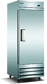 Commercial Grade Reach-in Refrigerator by Vortex Refrigeration | 1 Self-Closing Door | 23 Cu. Ft. | 3 Adjustable Shelves | for Restaurant Kitchens | 29