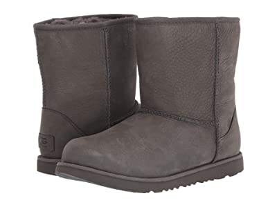 UGG Kids Classic Short II Waterproof (Little Kid/Big Kid) (Grey) Girls Shoes