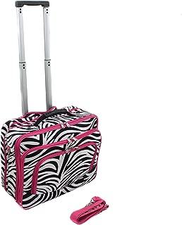 World Traveler Fashion Print Women's Rolling 17-Inch Laptop Case, Pink Zebra, One Size