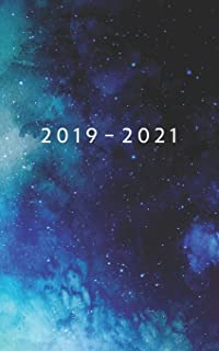 2019 - 2021: Weekly Planner Starting August 2019 - July 2021 | 5 x 8 Dated Agenda | 24 Month Appointment Calendar | Organizer Book | Soft-Cover Galaxy Blue