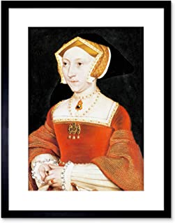 The Art Stop Painting Antique HOLBEIN Junior Tudor Queen Jane Seymour Framed Print B12X12810