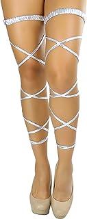 ToBeinStyle Women's Festival Lamé Garter Leg Wraps