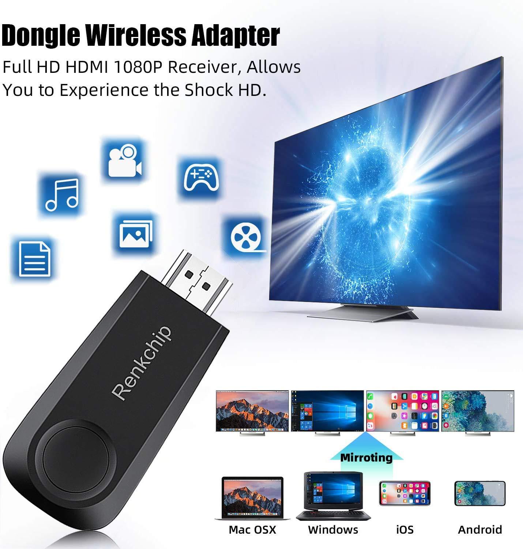 Dongle WiFi Display Dongle, adaptador HDMI inalámbrico 1080P receptor de TV portátil, Airplay Dongle, pantalla de espejo desde teléfono a pantalla grande, compatible con Miracast Airplay DLNA TV Stick: Amazon.es: Electrónica