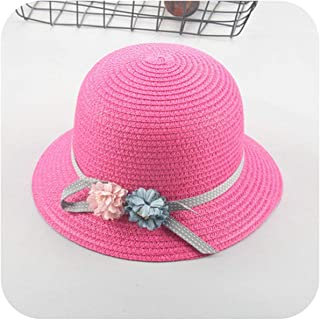 Wide Brimmed Flowers Straw Hats Fishing Girls Solid Beach Floppy Hat