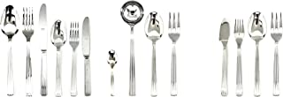 Mepra Sole 113 Pcs Flatware Set with Hollow Handles – Silver Tableware, Dishwasher Safe Cutlery