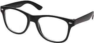Retro NERD Geek Oversized BLACK Framed Clear Lens Eye Glasses for Men Women