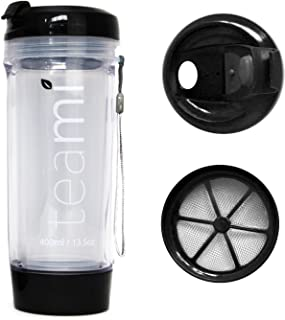 FRUIT INFUSER Water Bottle Tumbler with a Lid   100% BPA FREE   Our Best Infusion Bottles for Infused Fruit, Smoothies, Tea, and Coffee   Double Walled Mug, Hot & Cold (20 Ounces, Black)