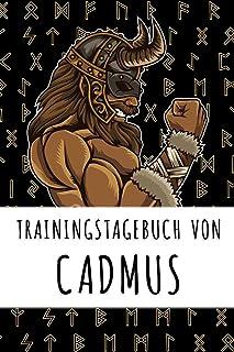 Trainingstagebuch von Cadmus: Personalisierter Tagesplaner für dein Fitness- und Krafttraining im Fitnessstudio oder Zuhause
