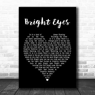 Bright Eyes Black Heart Song Lyric Quote Music Poster Gift Present Art Print
