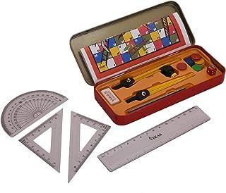 G-Compass Rapid Geometry Box Orange Mathematics Drawing Instrument Storage Case Study Material Organizer Tool Kit