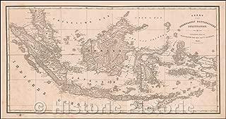Historic Map - Kaart van Nederlands Oostindische Bezitteingen/Map of the Dutch East Indies, 1843, Daniel Veelward - Vintage Wall Art 84in x 44in