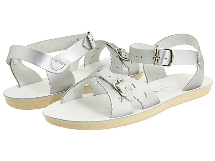 Salt Water Sandal by Hoy Shoes  Sun-San - Sweetheart (Toddler/Little Kid) (Silver) Girls Shoes