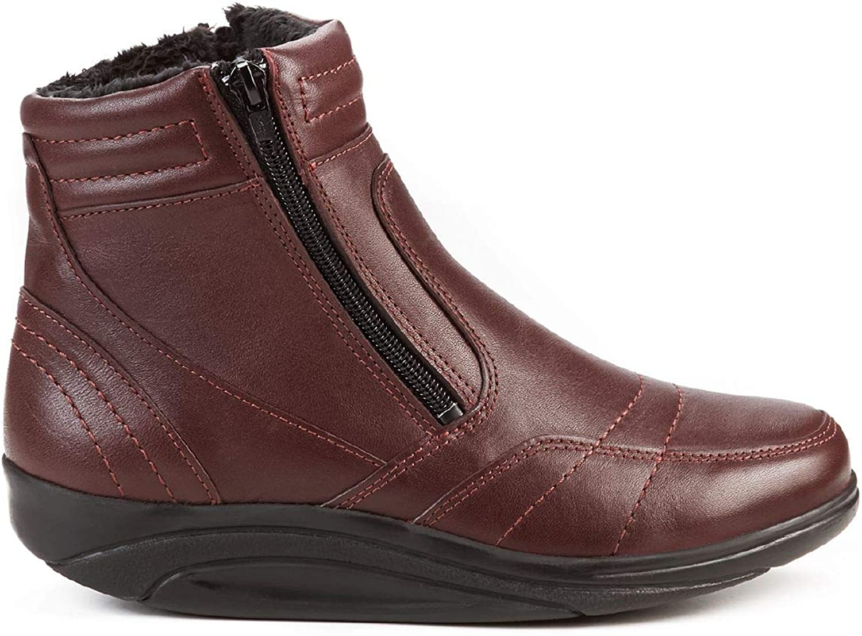 Avena Damen Rollsohlen-Stiefel Rot 40