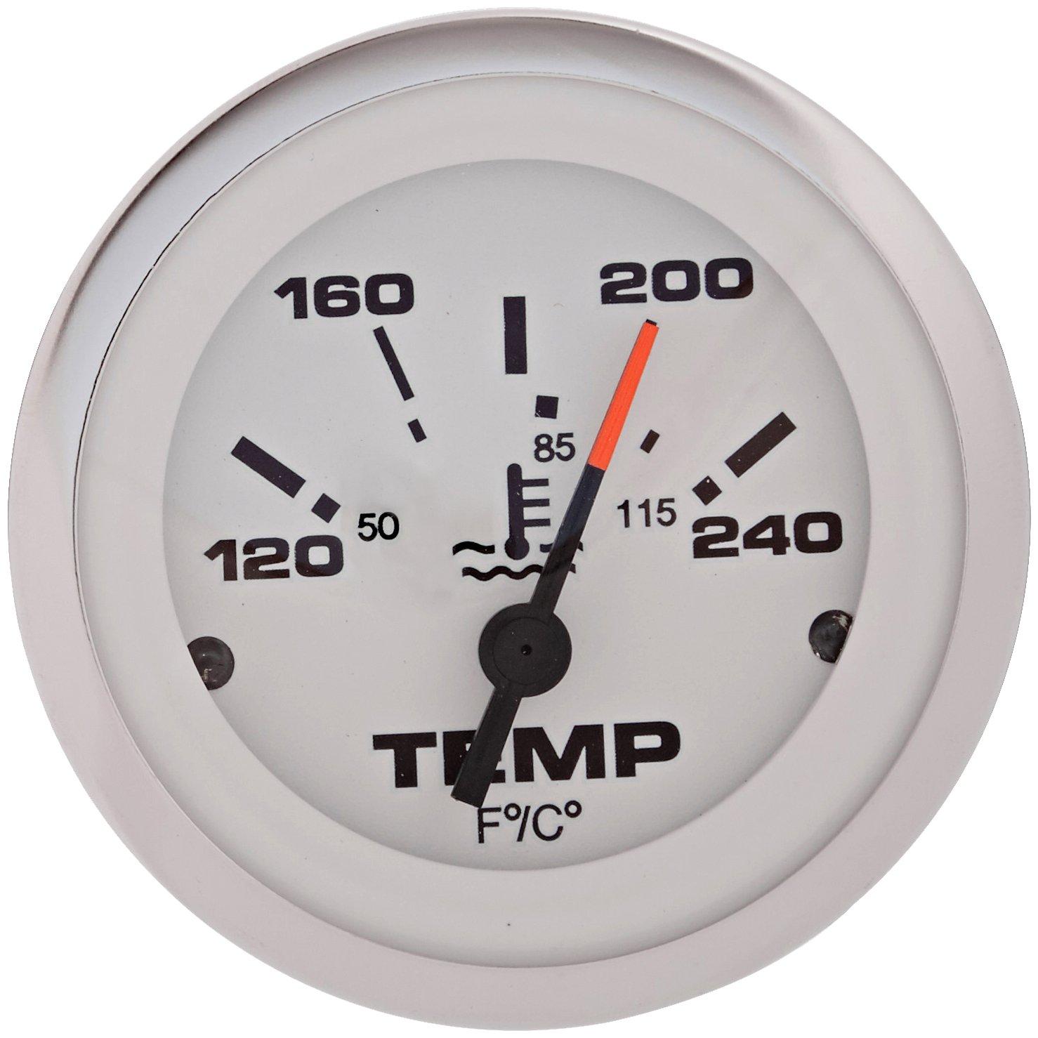 2 Sierra International 65509P Lido 120 to 240 Degrees F Dial Range Scratch Resistant Water Temperature Gauge