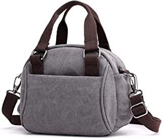ANBENEED Small Canvas Crossbody Handbag Zipper Casual Crossbody Bag Purse For Women Ladies