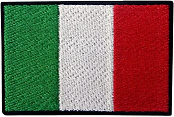 Italy Flag Embroidered Patch Italian Iron On Sew On National Emblem
