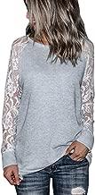 MOTOCO Langärmliges Damenhemd mit O-AusschnittFestes Spitzen-T-Shirt Freizeithemd Blusenboden