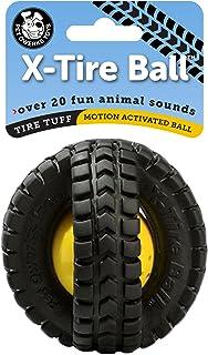 تريفثالات الأثيلين المتعدد PET qwerks حيوانات أصوات x-tire كرة لعبة Dog, Small