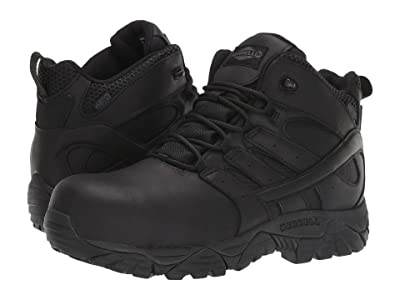 Merrell Work Moab 2 Mid Tactical Response Waterproof Comp Toe (Black) Men