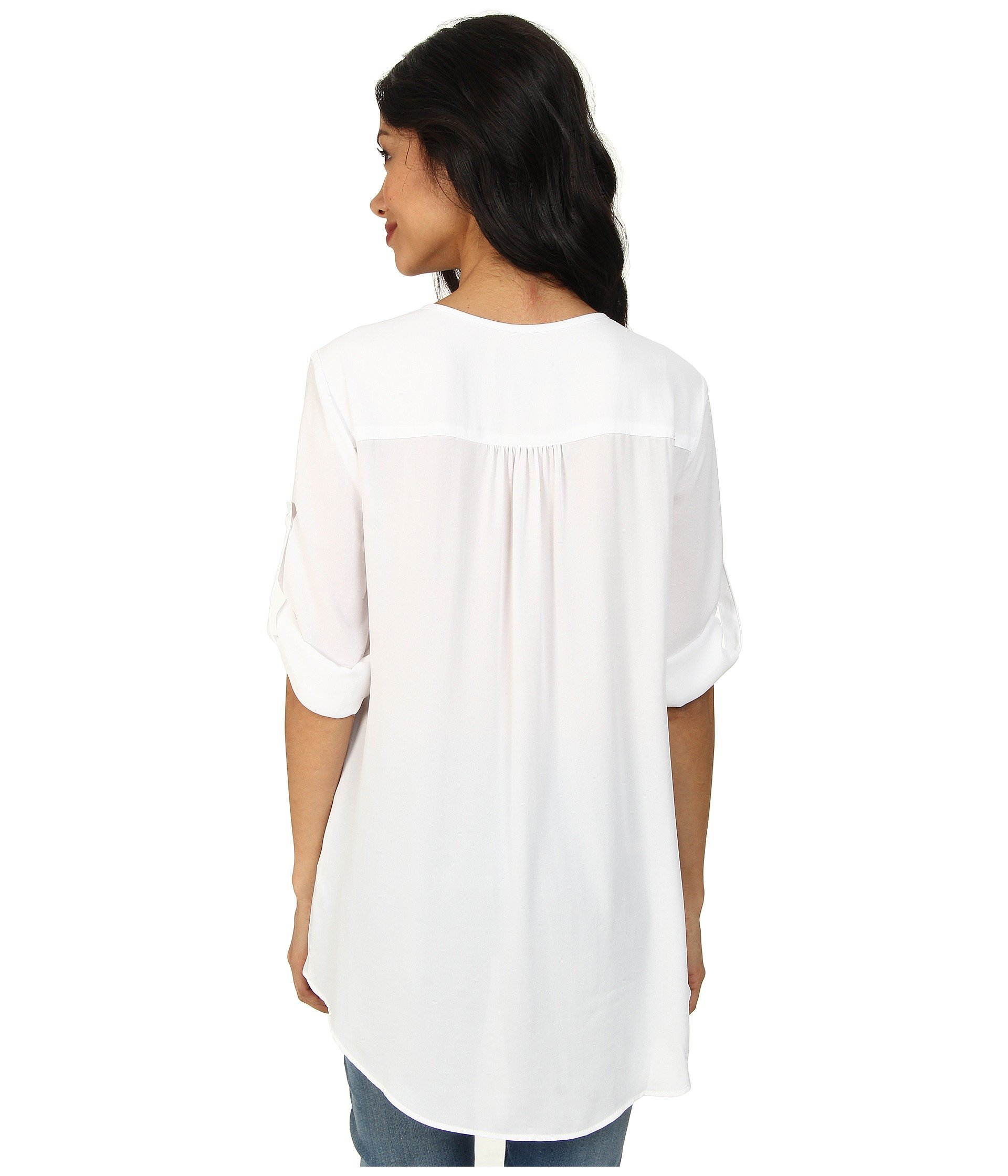 Off Asymmetrical Hem Karen Kane Top White Wrap ZXwqxgznxa